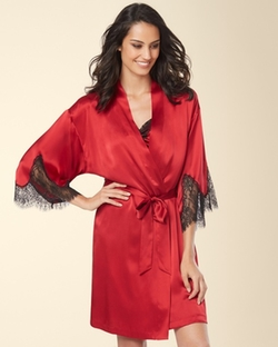 Soma - Silk Lace Short Robe