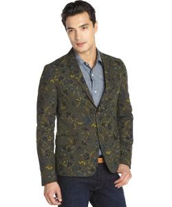 Gucci  - Army Floral Print Cotton Two-button Blazer