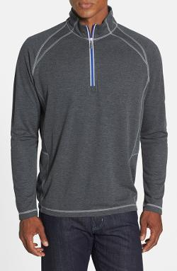 Tommy Bahama - Moisture Wicking Raglan Half Zip Sweatshirt