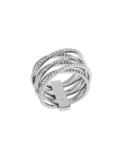 Michael Kors - Pave Crisscross Band Ring