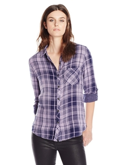 Seven7  - Plaid Roll-Sleeve Button Down Shirt