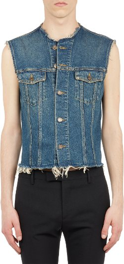 Saint Laurent  - Cutoff Jeans Jacket Vest