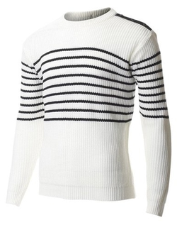 Flatseven - Stripe Ribbed Knit Sweater
