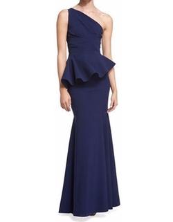 La Petite Robe di Chiara Boni - Desy One-Shoulder Peplum Gown