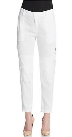 Vince  - Linen-Blend Cargo Pants
