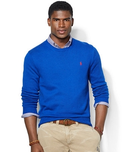 Polo Ralph Lauren - Crew Neck Cotton Pullover Sweater