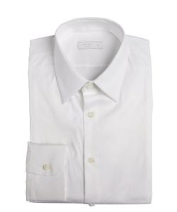 Prada - Stretch Poplin Point Collar Dress Shirt