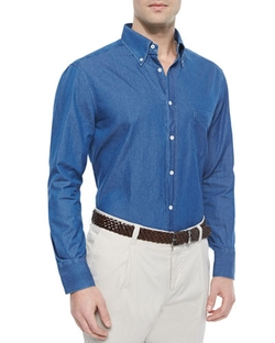 Brunello Cucinelli	  - Long-Sleeve Button-Down Shirt