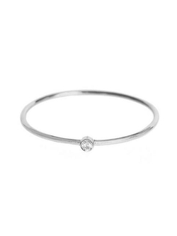 Jennifer Meyer - Thin Diamond Stacking Ring