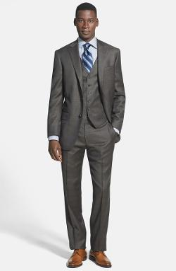 Hart Schaffner Marx  - New York Classic Fit Three-Piece Suit