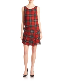 R13  - Asymmetrical Plaid Dress