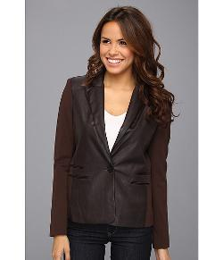 Michael Kors  - Ponte Faux Leather Blazer