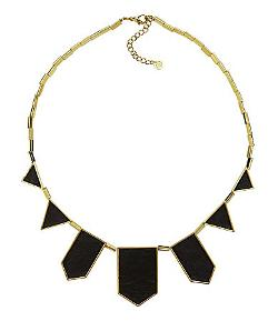 House of Harlow  - 1960 Leather Station Statement Necklace