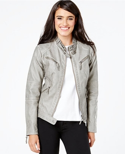Studio M  - Distressed Faux-Leather Jacket