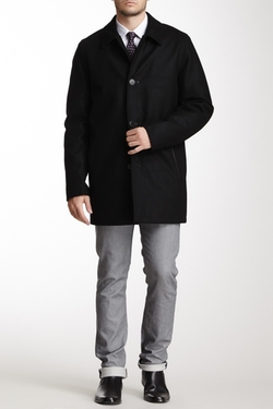 Vince Camuto - Wool Melton Car Coat