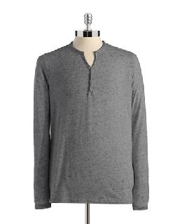 Rogue State - Long Sleeved Henley T-shirt