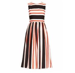 Dolce & Gabbana - Striped Sleeveless Cotton Dress