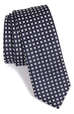 Boss - Square Check Silk Tie