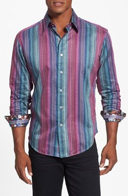 Robert Graham  - Reservoir Classic Fit Stripe Sport Shirt
