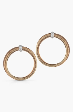 Alor - Cable & Diamond Hoop Earrings