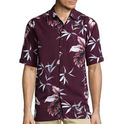 The Havanera Co. - Short-Sleeve Printed Rayon Shirt