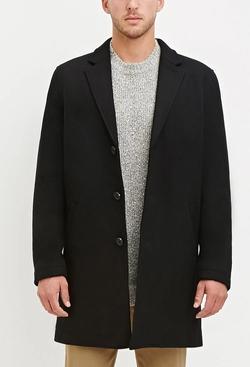 21 Men - Wool Blend Overcoat