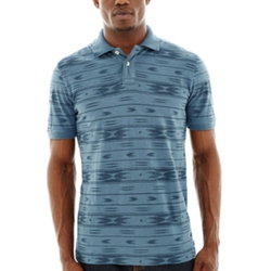 Arizona - Short-Sleeve Aztec Stripe Polo Shirt