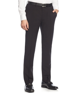 Calvin Klein - X-Fit Black Solid Extra Slim Fit Pants