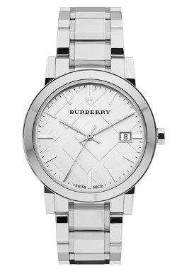 Burberry  - Large Check Stamped Bracelet Watch