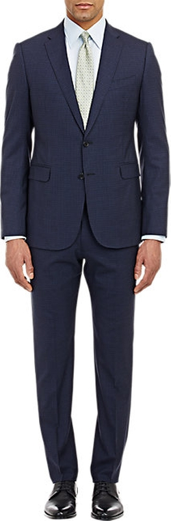 Armani Collezioni  - Check M-Line Two-Button Suit