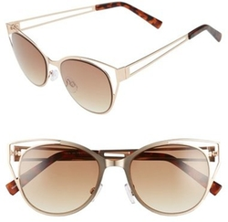 BP - Cutout Cat Eye Metal Sunglasses