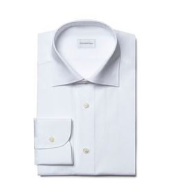 Ermenegildo Zegna  - White French-Collar Shirt