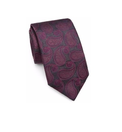 Saks Fifth Avenue Collection  - Paisley Silk Tie