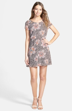 Frenchi - Floral Print Woven Dress
