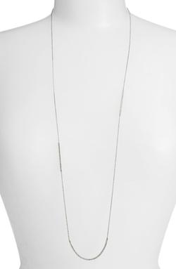 Nadri - Long Crystal Bar Station Necklace