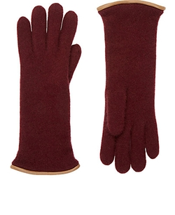 Barneys New York - Leather-Trimmed Cashmere Gloves