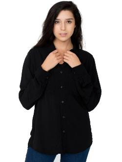 American Apparel  - Unisex Rayon Long Sleeve Button-Up