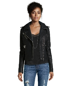Wyatt - Vegan Leather Asymmetrical Moto Jacket