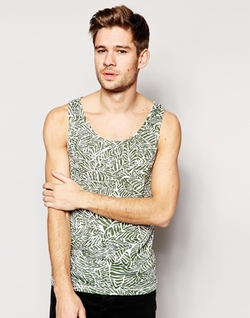 Native Youth - AO Leaf Print Tank Top