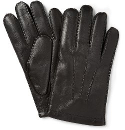 Dents  - Touch Screen Cashmere-Lined Leather Gloves