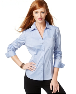 INC International Concepts - Fitted Button-Up Shirt