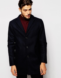 Stanley Adams - Wool Rich Lapel Overcoat