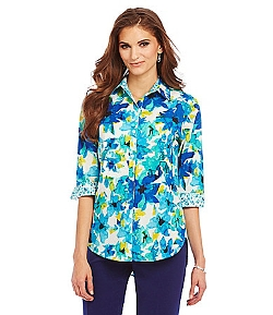 Investments - Hi-Low Floral Print Tunic