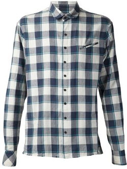 Baja East  - Distressed Flannel Shirt