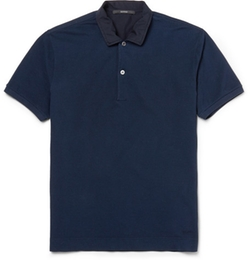 Gucci   - Cotton-Piqué Polo Shirt