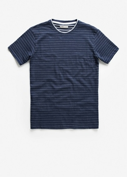 Mango - Reverse Striped T-Shirt