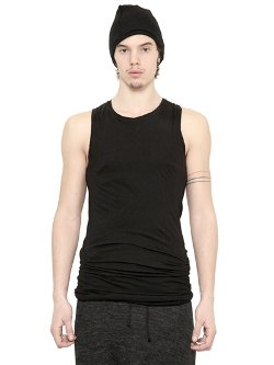 Isabel Benenato - Double Cotton Jersey Tank Top