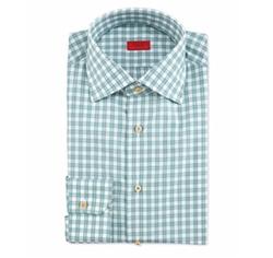 Isaia - Box-Check Woven Dress Shirt