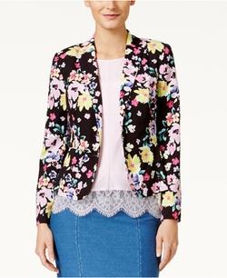 CeCe - Floral-Print Blazer