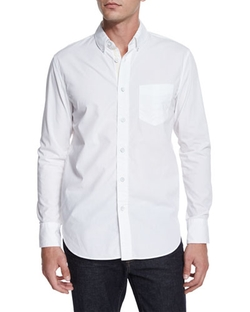 Rag & Bone - Solid Long-Sleeve Sport Shirt